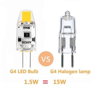Image 4 - Paquete de 20 bombillas LED G4 12V DC regulable COB LED G4 lámpara bombillas 1,5 W 360 Ángulo de haz reemplaza 15W halógeno blanco frío, cálido, Natural