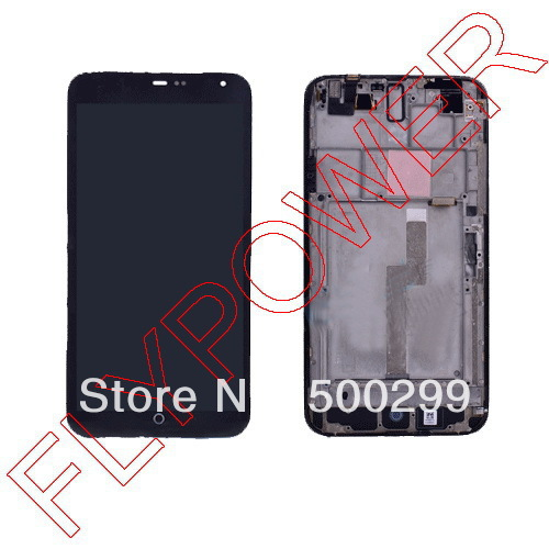 LCD Display Screen+Touch Digitizer Screen + Frame Complete Black For Meizu MX3 M055 MX065 by free shipping