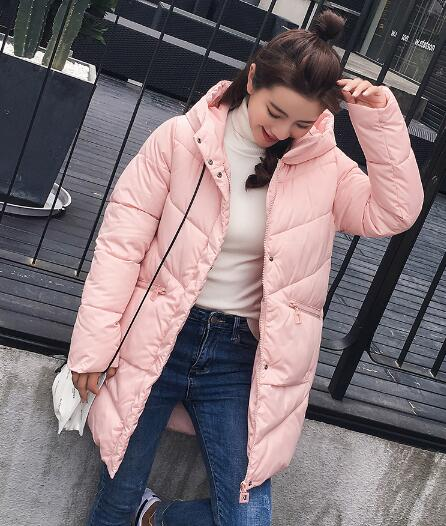 Maternity Thick Warm Hooded Long Down Parkas Pregnant Women Winter Clothing Cotton Padded Jacket Maternity Winter Casual Coat kulazopper large size women s winter hooded cotton coat 2018 new fashion down cotton padded jacket long female warm parka yl041