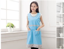 1PC Korean Fashion Apron with Pockets Cafe Waiter Kitchen Cook Household Cleaning Tools LB 407