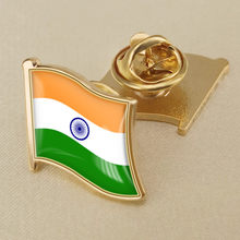 India Bendera Tunggal Kerah Pin(China)