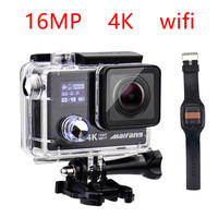 16MP 4K 30FPS WIFI 1080P 60fps NTK 96658 remote control 170D waterproof go deportiva underwater Sport cam pro action Camera