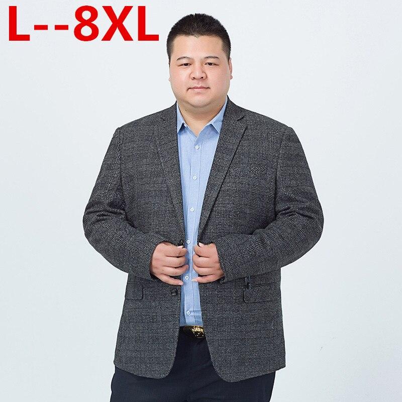 Plus Size 10XL 8XL 6XL 5XL 4XL Men Casual Suit Business Style Fashion Design Men's Long Sleeve Loose Fit Suits Masculine Blazer