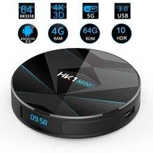 HK1 Mini+ Android 9.0 Tv Box 4GB 64GB RK3318 Quad Core 32GB Smart Tv Box 2.4/5.0G WiFi BT4.0 HDR 4K 3D Media Player android 9 0 tv box hk1 mini 4gb ram 32gb 64gb rom rk3318 quad core smart tv box 2 4 5 0g wifi bt4 0 4k 3d set top box