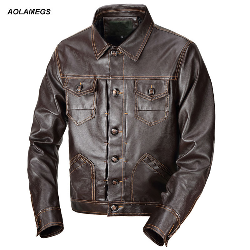 Aolamegs hommes veste en cuir de mode poches Biker vestes nouvelle haute qualité lettre broderie décontracté mâle PU cuir manteau Outwear