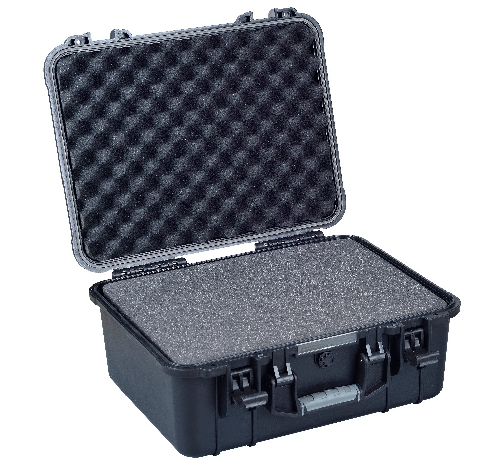 противоударный пластик - shockproof waterproof Plastic Material equipment flight case with cubes foam
