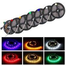 Tira de cinta de luz LED de 12 V CC Led 2835 RGB 1-5 M 12 V CC 60 LED/M RGB tira de Led lámpara diodo Flexible TV luz de fondo