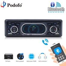 Podofo автомобильный мультимедийный плеер универсальный 1 Din Bluetooth Авто Радио Аудио стерео плеер авторадио FM USB SD AUX задняя камера