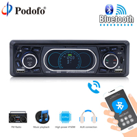 Podofo Car Multimedia Player Universal 1 Din Bluetooth Auto Car Radio Audio Stereo Player Autoradio FM USB SD AUX Rear Camera