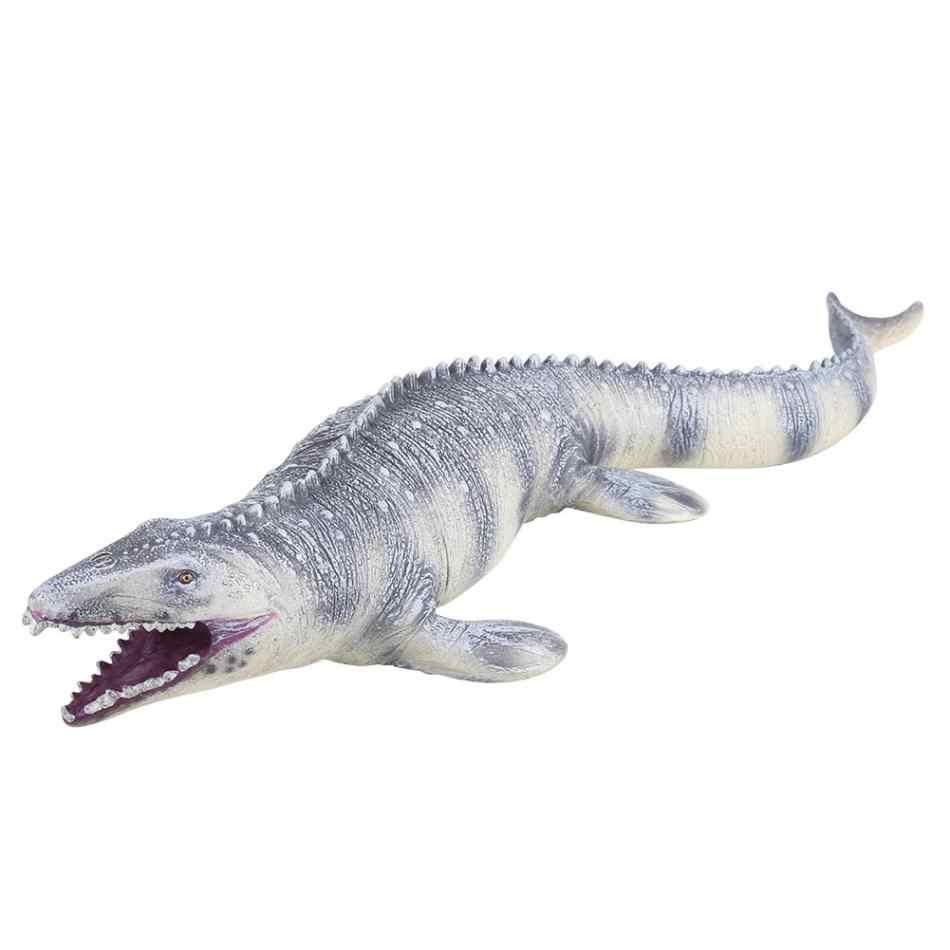 Jurassic grande mosasaurus dinossauro brinquedo macio pvc figuras de ação pintados à mão animal modelo coleção dinossauro brinquedos para crianças