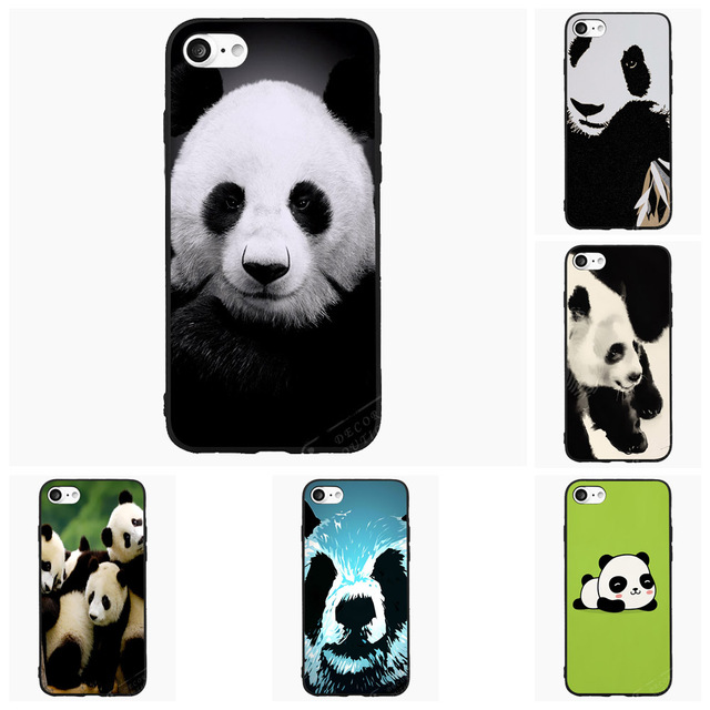 6f0531cc84c Cute Panda Bear Animal Cell Phone Case For iPhone iPod 4 5s 6s 7 Plus For  Nokia Lumia N5 N6 HTC For Blackberry Cover Shell Gift