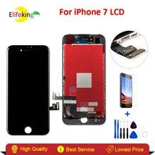Elifeking 3 шт./лот для iPhone 7 ЖК-дисплей Дисплей без битых пикселей ЖК-дисплей с Сенсорный экран планшета сборки + закаленное стекло + инструменты