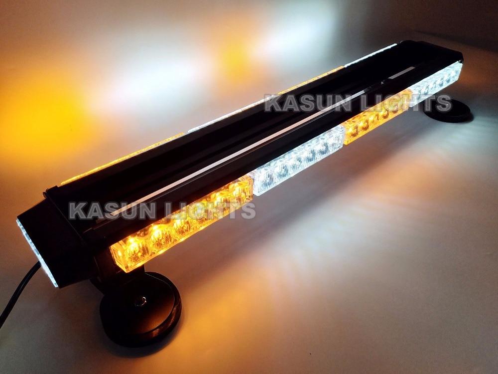 CYAN SOIL BAY 26 54LED 162W 54 LED Work Light Bar Double Side Emergency Beacon Flash Strobe Light Amber White