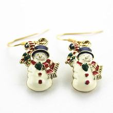 2016 Free shipping the new alloy cute cartoon Santa Claus euramerican style gold woman ear hook Christmas gift