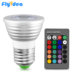 RGB-лампа E27 E14 MR16 GU10, 16 цветов, 110 В, 220 В, 12 В