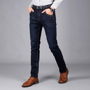 Image 3 - Sulee ماركة الرجال الجينز حجم 28 إلى 42 أسود أزرق تمتد الدنيم ملابس رجالي تلائم الرجل النحيف جان ل سروال رجالي بنطلون جينز
