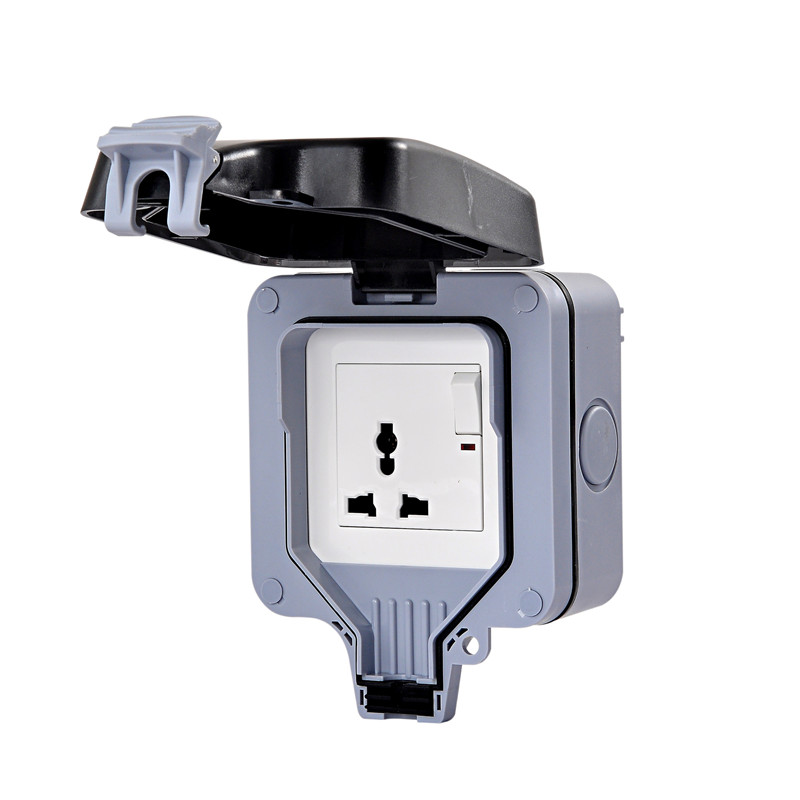 IP66 Concealed Wall Switch Plastic Waterproof Box Splash Box Touch Cover More Function Socket Room