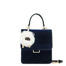 Bag 2017 mini chain bag floccular velvet one shoulder cross-body women's handbag briefcase