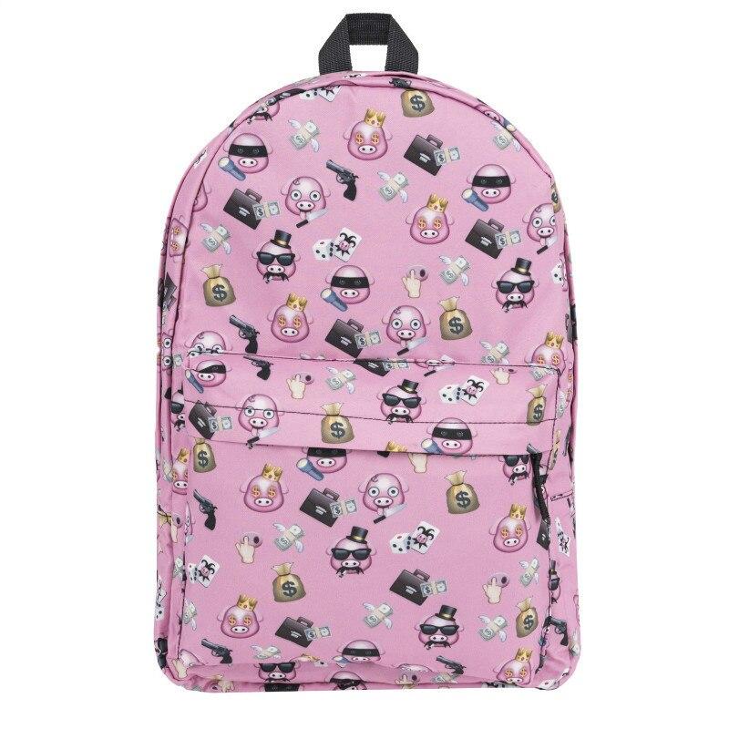 ecb756a88ef Detail Feedback Questions about Women Backpack Pig Gang Emoji Pink Print  Mochila Fashion School Bags for Teenage Girls Sac a Dos Canvas Backpack on  ...