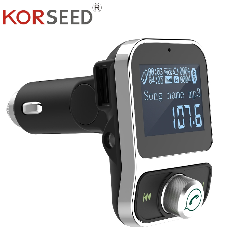KORSEED FM Transmitter Car Kit Wireless Bluetooth FM Modulator Handsfree auto MP3 Audio Player Dual USB AUX Carkit in for phone usb
