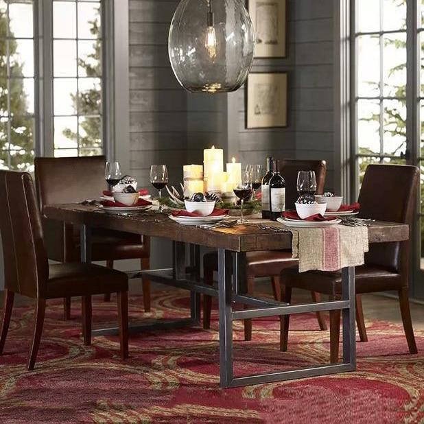 Massief houten meubelen, houten eetkamer tafel bureau computer ...