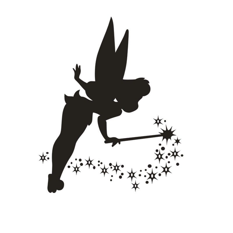 TINKERBELL TRIBAL SWIRLS GIRL CUTE CAR TRUCK SIDE DECAL GRAPHIC VINYL