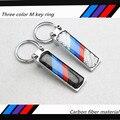 carbon fibre Metal Car M Chaveir Key Ring Key Chain Keychain For BMW E46 E39 E60 F30 E90 F10 E36 X5 E30 E34 Key Case Key Holder