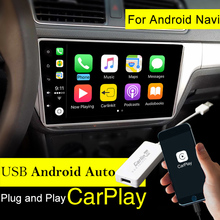 Carlinke Apple USB Dongle para Android Auto iPhone Carplay iOS11 Carplay Android Suporte/MTK WinCE sistema de Navegação Player Do Carro
