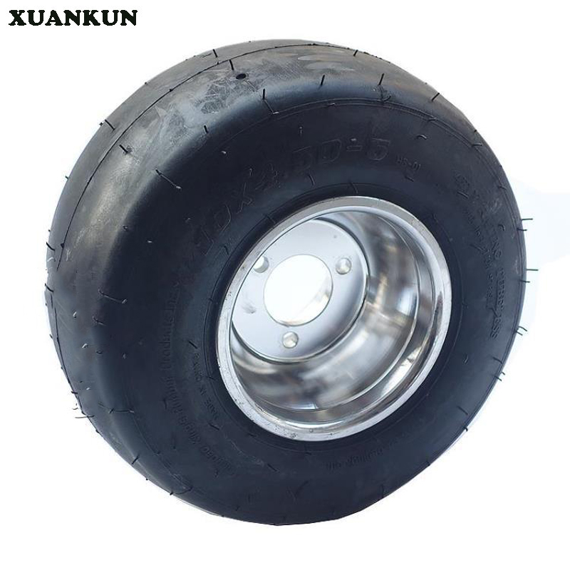 XUANKUN  Modified Athletic Drift Three Round Four Kart 5 Inch Front Tire Wheel 10X4.50-5 Inch Tire Wheel xuankun beach car crank arm homemade four wheeled three wheeled motorcycle kart car modified front swing arm swing flange