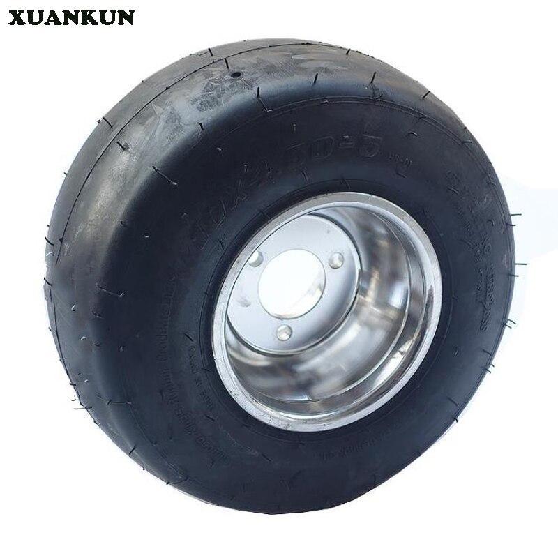 XUANKUN a modifié la dérive sportive trois quatre Kart 5 pouces roue de pneu avant 10X4. 50-5 pouces roue de pneu