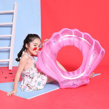nflatable Swimming Ring Sequin Shell Glitters Swim Circle Kid Women Pool Float Mattress Life Buoy Raft Water Toys Accessories(China)