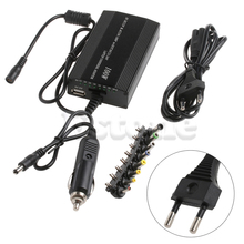 Для ноутбука в автомобиле, зарядное устройство постоянного тока для ноутбука, адаптер переменного тока, блок питания 100 Вт, универсальный черный цвет, Прямая поставка, поддержка