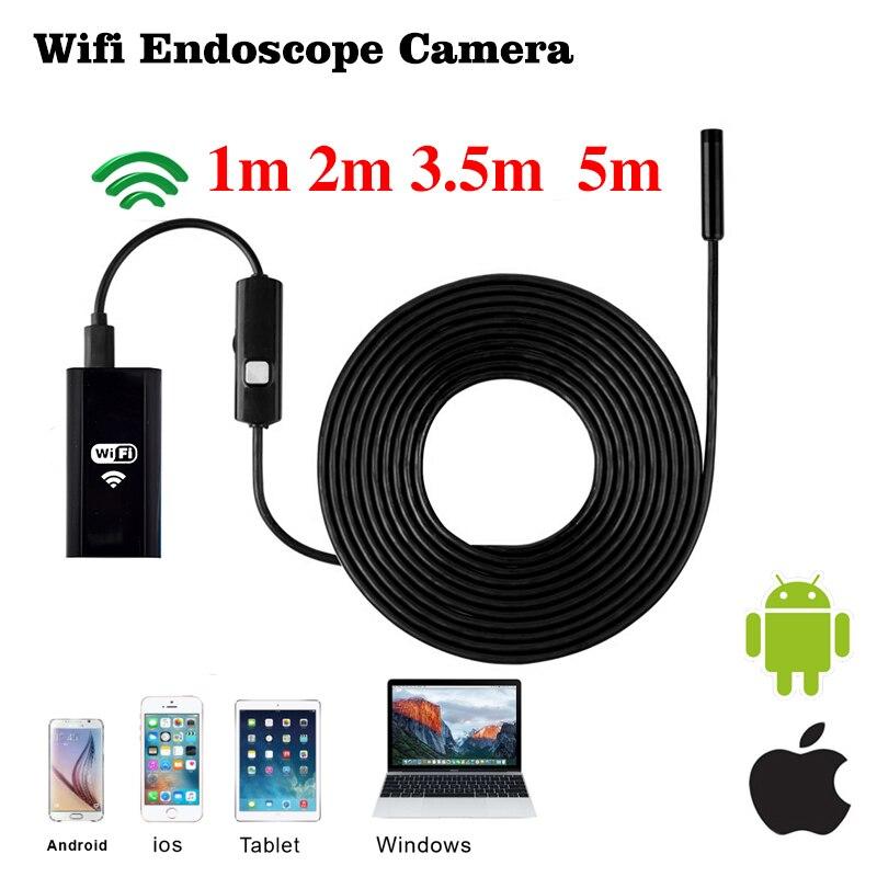 Wistino Endoscope Camera Soft Cable Wireless Mini Camera 720P Wifi Endoscope Waterproof Android iOS Smart Phone Pipe Endoscope детская игрушка new wifi ios