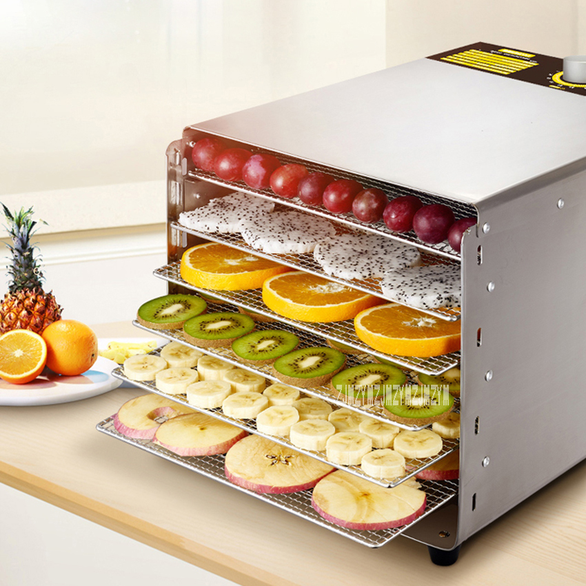 ST-03 Stainless Steel Food Air Dryer 6-Layer Household Electric Vegetable Meat Fruit Dryer Medicinal Material Food DehydratorST-03 Stainless Steel Food Air Dryer 6-Layer Household Electric Vegetable Meat Fruit Dryer Medicinal Material Food Dehydrator