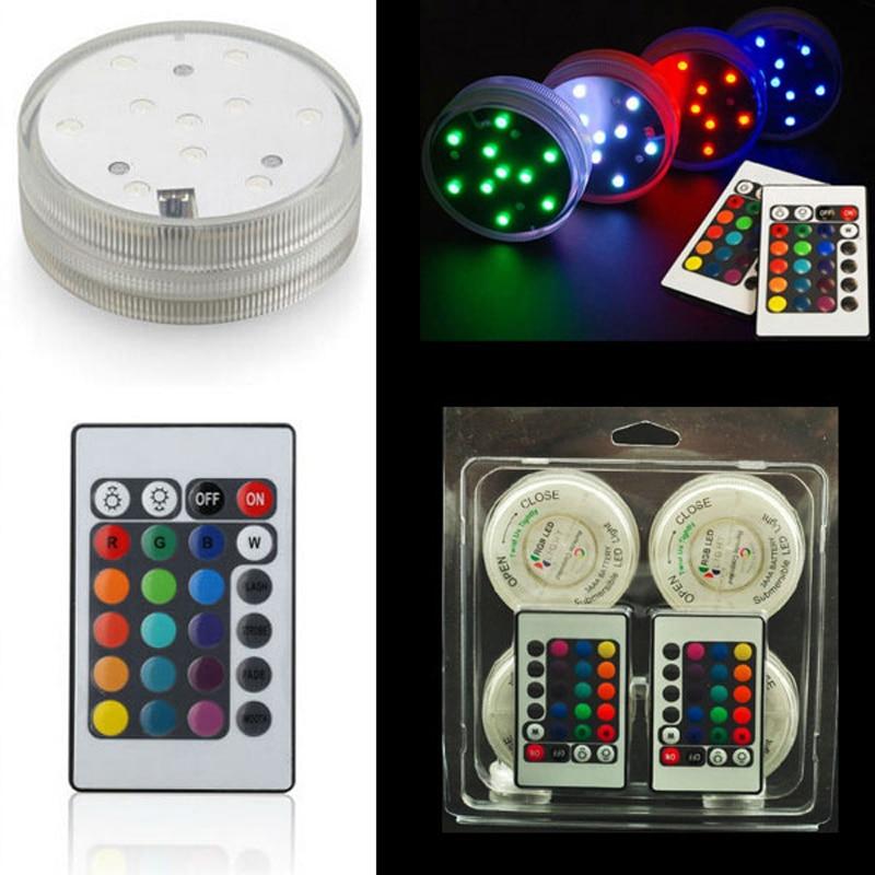 Wholesales (28pcs / lot) LED 꽃병 조명 웨딩 파티 테이블 중앙 램프 가정 장식 배터리 전원 공급 파티 용품