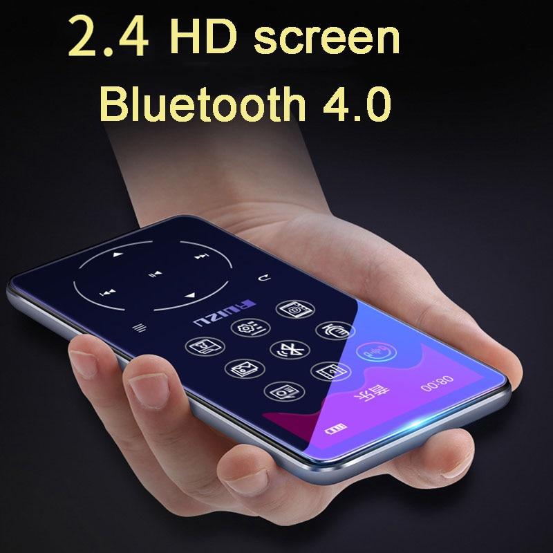 RUIZU lecteur MP3 avec bluetooth 4.2 et 2.4 écran touches tactiles hifi fm radio mini sport MP 3 lecteur de musique portable métal baladeur