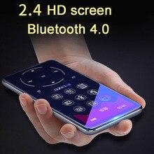 Ruizu mp3 player com bluetooth 4.2, e 2.4 tela, teclas de toque, hifi, rádio fm, mini esporte, mp 3, reprodutor de música walkman de metal portátil