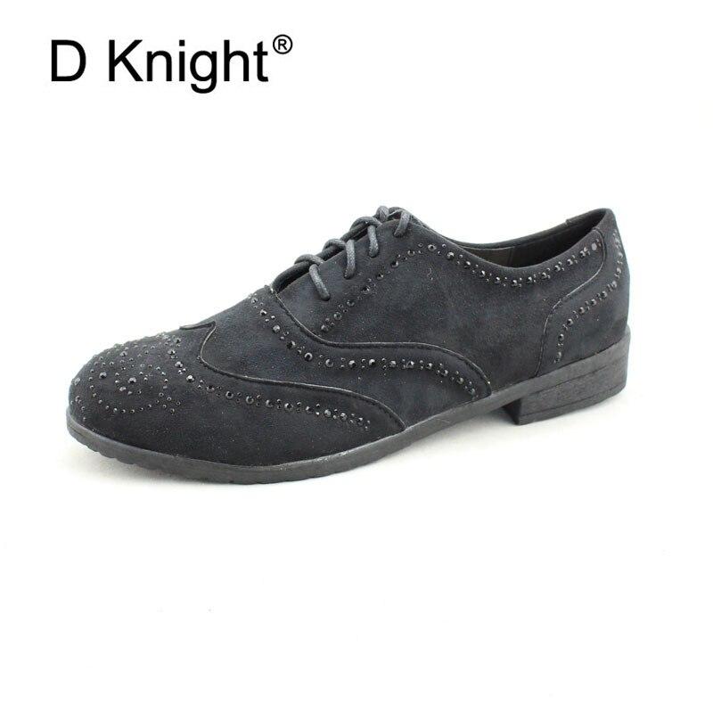 Appartements Cristal Black 41 Lace Taille Mère De Chaussures Sneakers Casual La Mocassins Mode Femmes Oxford Filles Up Derbies Plus Un7wrUqT1