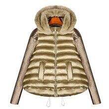 2017 Европа стиль зимняя куртка женские Стеганое пальто Короткие Хлопчатобумажная Куртка трапециевидной формы плащ куртка-парка женские большие размеры DX642