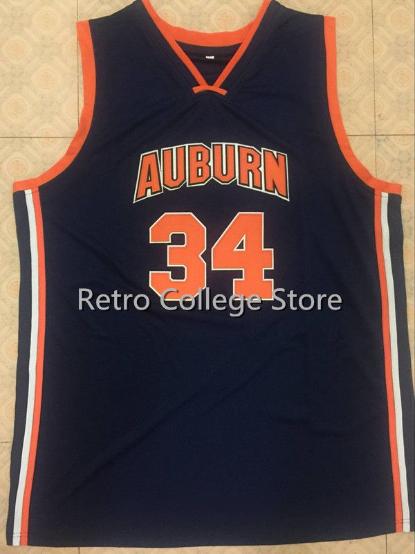 цена на #34 CHARLES BARKLEY Auburn University Retro throwback College Basketball Jerseys Embroidery Stitched Any Name And Number