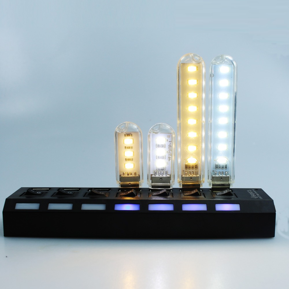 Creative USB Mini Led Night Light 3LEDs Or 8LEDs Universal Power Supply, Including Computers, USB Notebook, Power Furniture, Etc