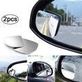 2 шт. автомобильное HD 360 градусов широкоугольное регулируемое зеркало заднего вида автомобиля слепое пятно без оправы зеркала авто зеркало ...