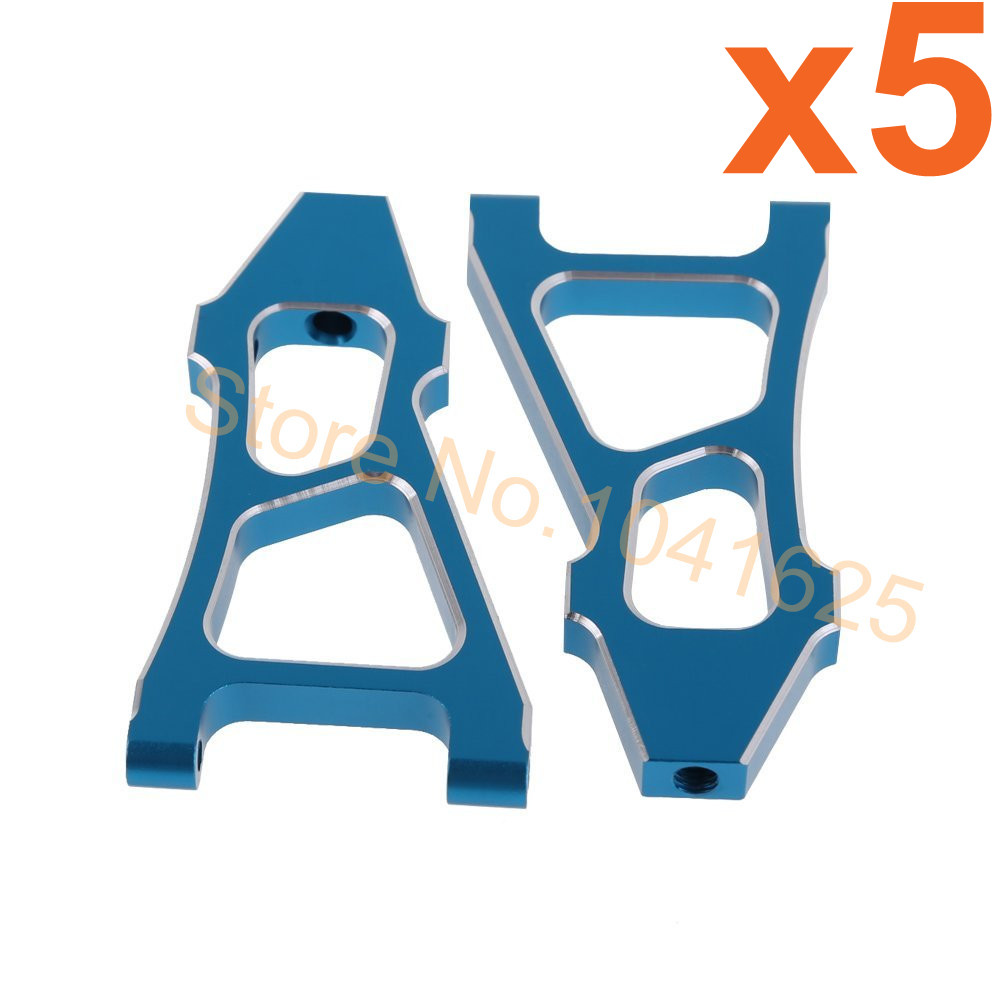 Wholesale 5Pairs/Lot HSP 188019 (08037) Upgrade Parts Blue Alum Front Lower Arm RC 1:10 For 4WD Car Off Road Monster Truck 94188 1 pair hsp 106019 aluminum front lower suspension arm 06011 for 1 10th upgrade parts off road buggy warhead fit redcat