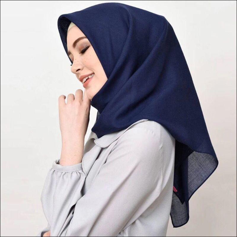 100x100CM Women Unisex Lightweight Voile Muslim Hijab Solid Color Square Scarf Shawl Islamic Turban Head  Random Delivery