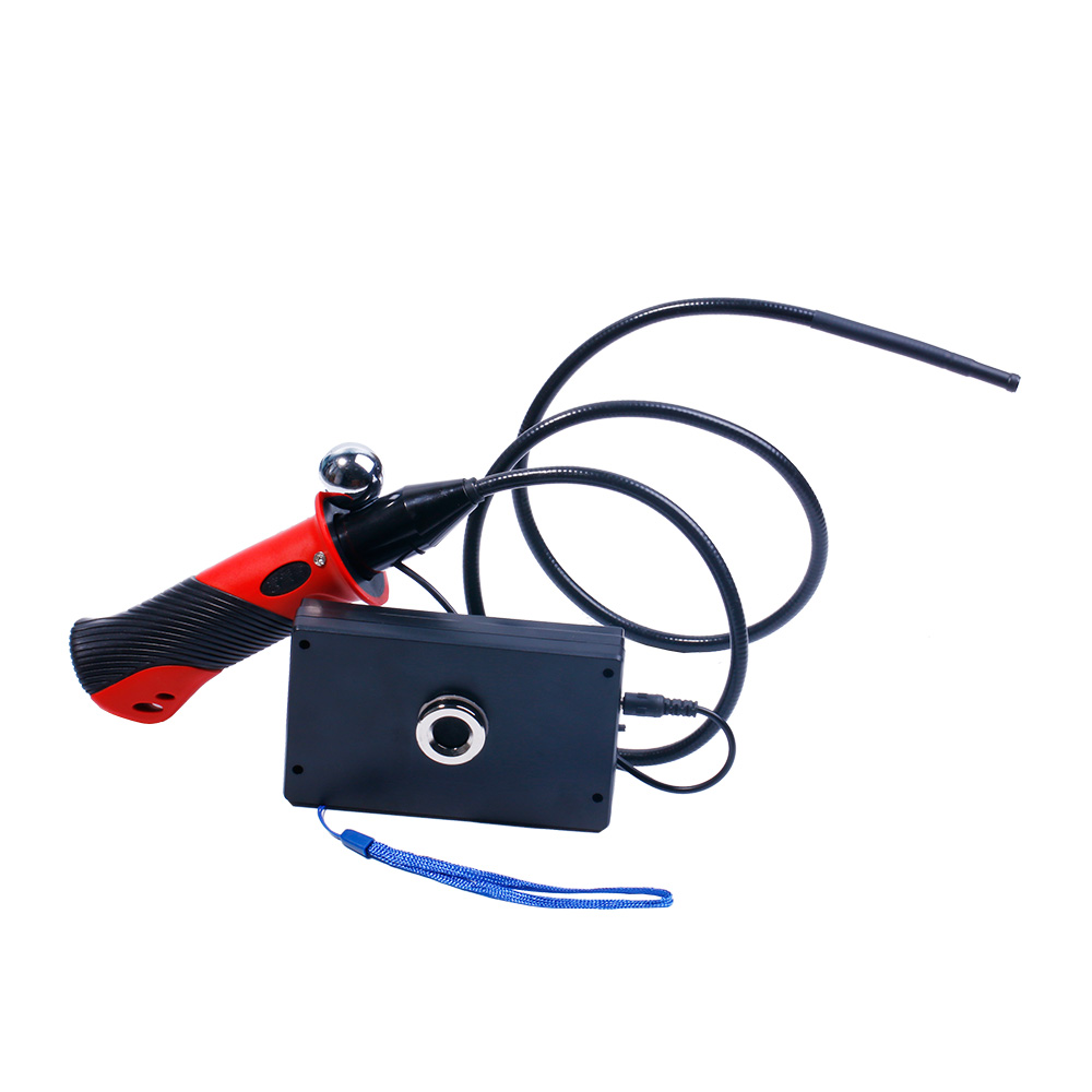 5.5MM 4.3 Inch Portable AV Endoscope Camera Build-in Battery CMOS Borescope 5.5MM Optional With Tool Box As Gift 99e portable lcd video borescope with recording cmos endoscope cctv camera inspection tool av endoscope camera