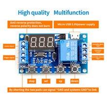 6-30 В релейный модуль переключатель триггер время задержки цепи таймер цикл регулируемый R06 Прямая поставка