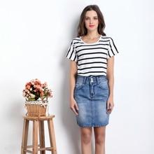 Fashion Denim pencil Skirts Women 2017 Front Slit Summer Jeans Skirt High Waist Skirt cute girl skinny skirts sexy girl hot wear