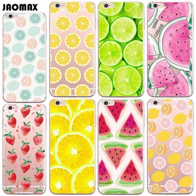 pretty nice 76e66 81a3e US $2.12 |Aliexpress.com : Buy Jaomax Cute Summer Fruit Lemon Watermelon  Case For iPhone 8 Xs 6 6S Plus 5S SE 7 7 Plus X Transparent Soft Silicone  ...