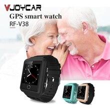 купить Mobile Phone V38 GPS Tracker Watch For Elderly Children SOS Bracelet Remote Monitor Long Standby Time Two-way Call Step Counting по цене 2639.26 рублей