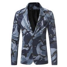 Dropshipping camouflage series men's casual slim suit high-grade jacket fashion casual blaz